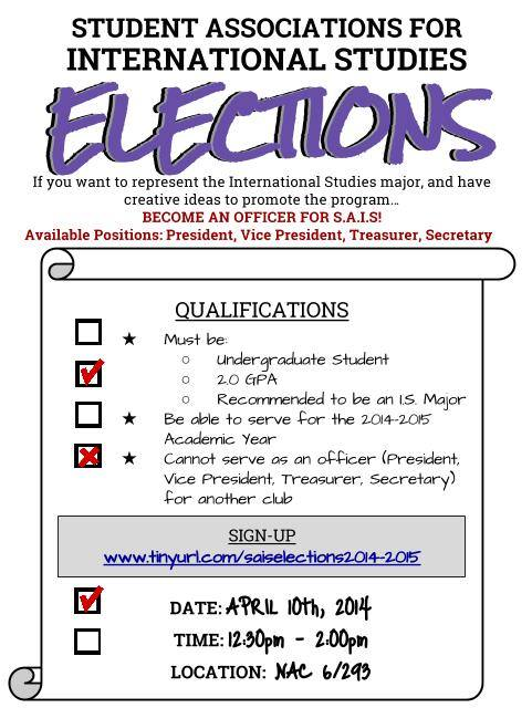 SAIS 1415 Elections Updated
