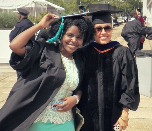 Veronica and Dr. G at May 2014 graduation.