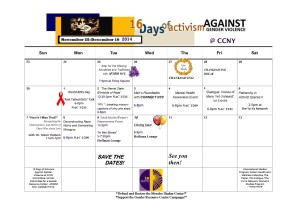 16 Days at CCNY – 2014 Campaign
